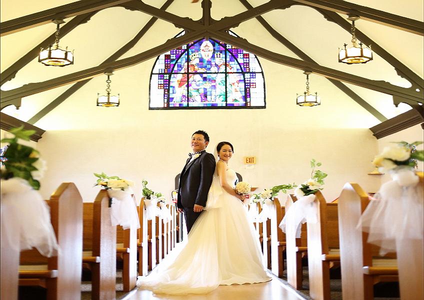 [ALOHA PHOTO] エピファニーエピスコパル教会 チャペルフォト+ビーチフォト
