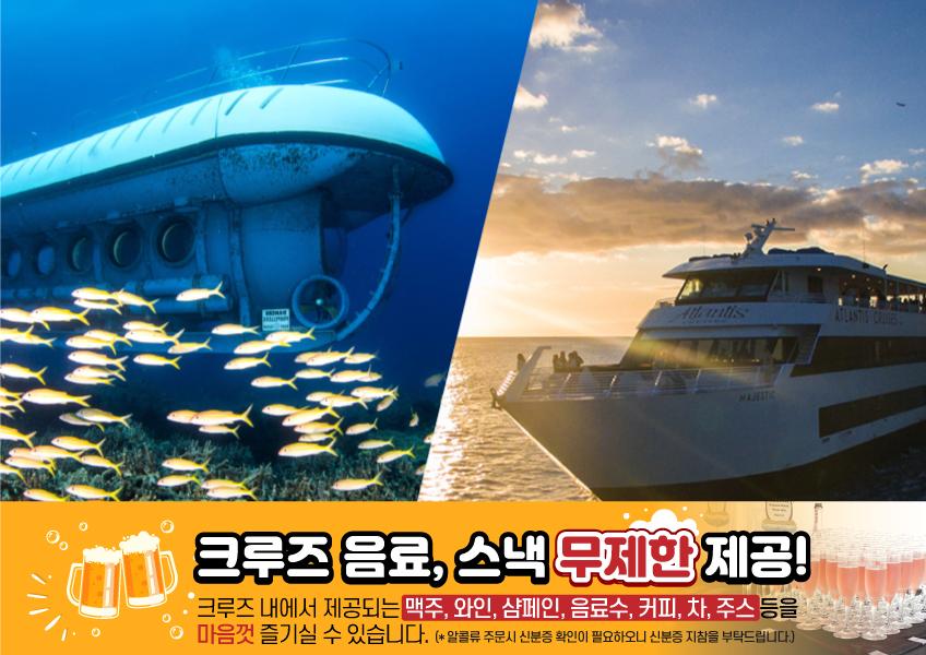 [초특가 콤보] 와이키키 잠수함 + 마제스틱 애피타이저 크루즈