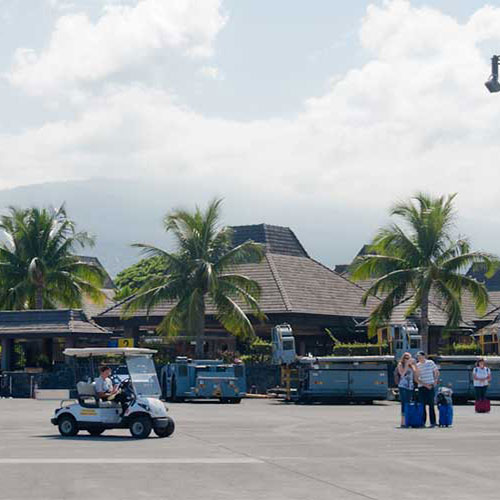 ヒロ空港到着、観光スタート