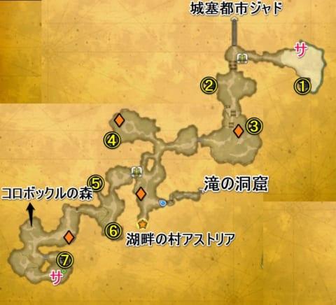 ラビの森宝箱マップ