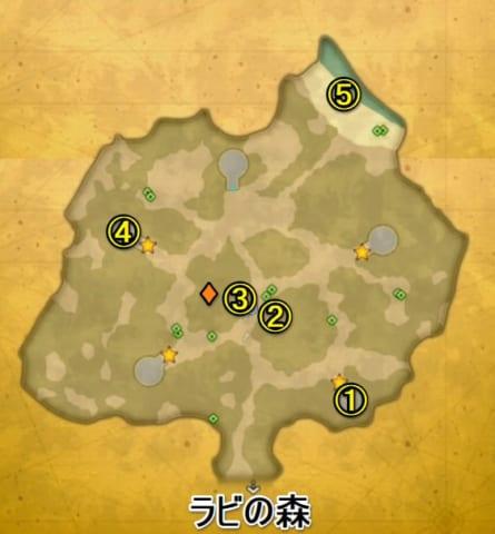 コロボックルの森宝箱マップ