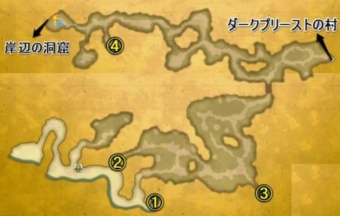火山島ブッカ宝箱マップ