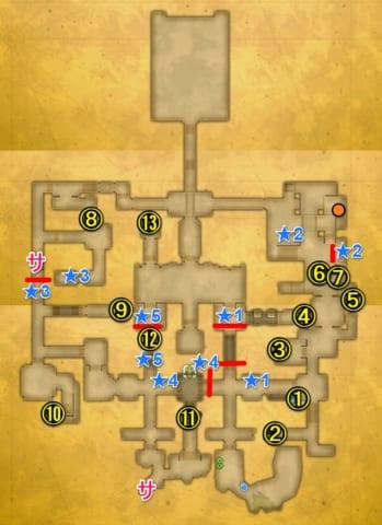 光の古代遺跡宝箱マップ