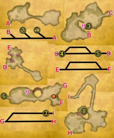 ワンダーの樹海宝箱マップ