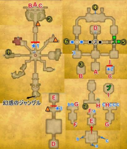 ミラージュパレス宝箱マップ