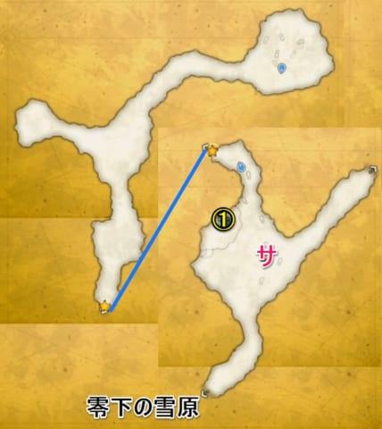 氷壁の迷宮宝箱マップ