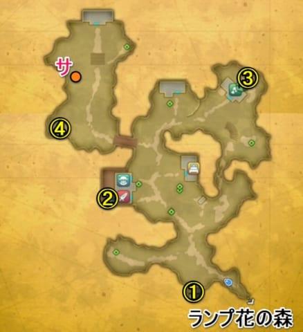 花畑の国ディオール宝箱マップ