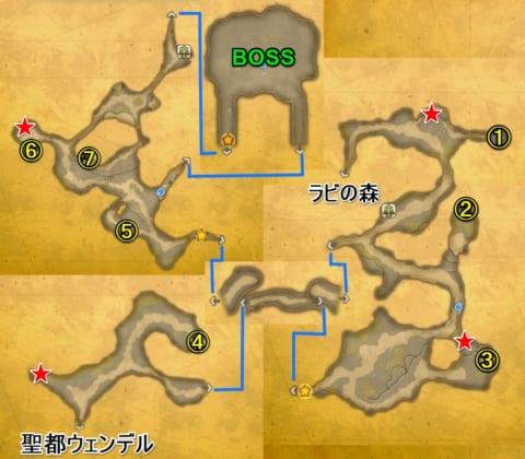 滝の洞窟マップ