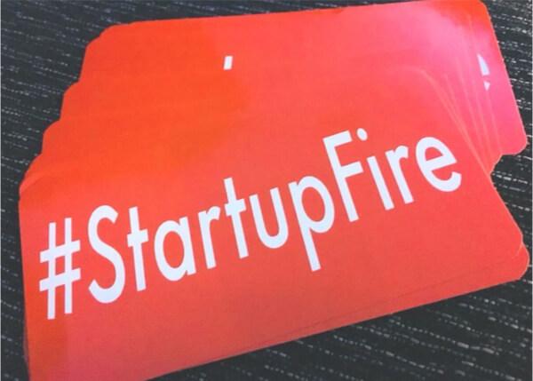#StartupFireステッカーの画像です