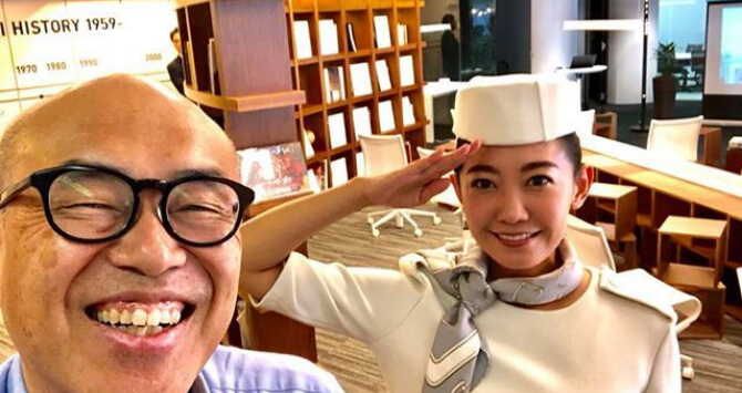 筆者と駒崎クララさんの画像です