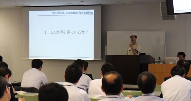 駒崎クララさんによる防災訓練の様子を示した画像です