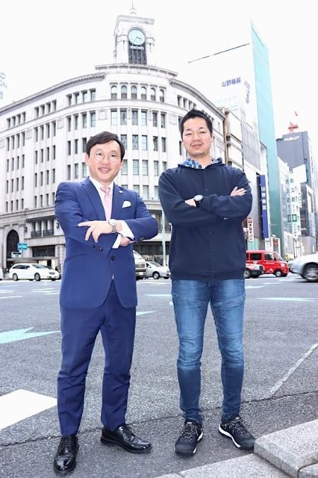 坂口氏と森若氏の画像です