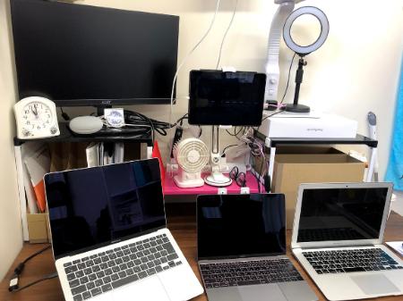 杉浦氏のオンライン部屋の画像です