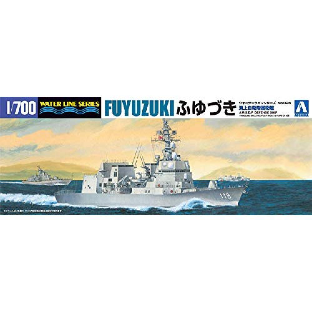 Aoshima Bunka Kyozaisha 1/700 Waterline Series Maritime Self-Defense Force Destroyer Fuyuzuki Plastic Model 026