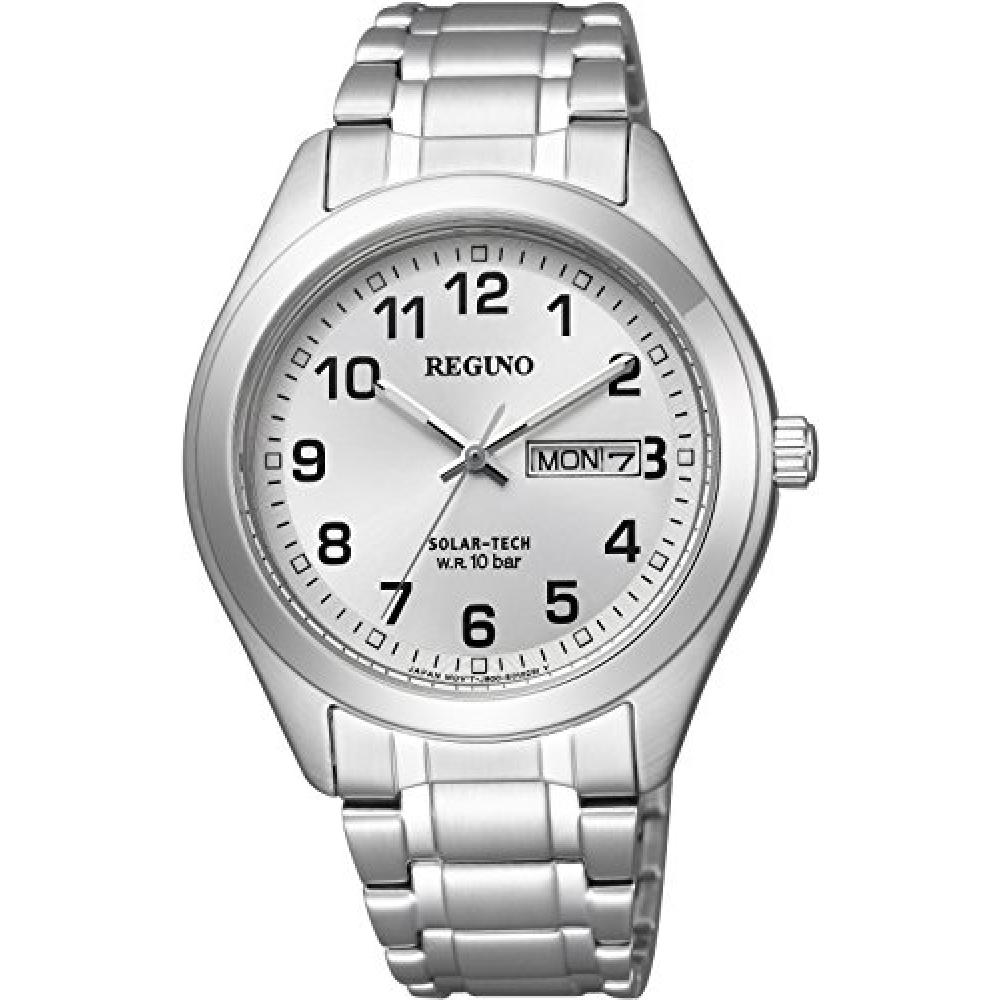 CITIZEN watch REGUNO Reguno Solar Tech Standard 10 ATM water resistant Day & Date model metal face KM1-016-13 Men's