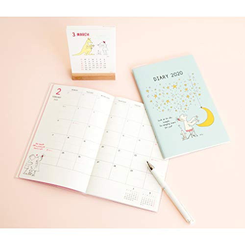 Greeting Life 2020 Barbapapa Calendar Desktop Letter Press Stand C-1174-BB