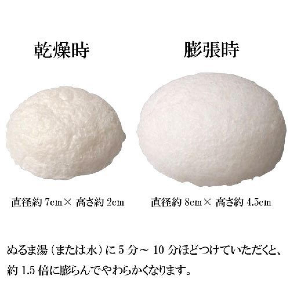 Makonai Kosume Frozen konjac sponge (peach) 1 face wash