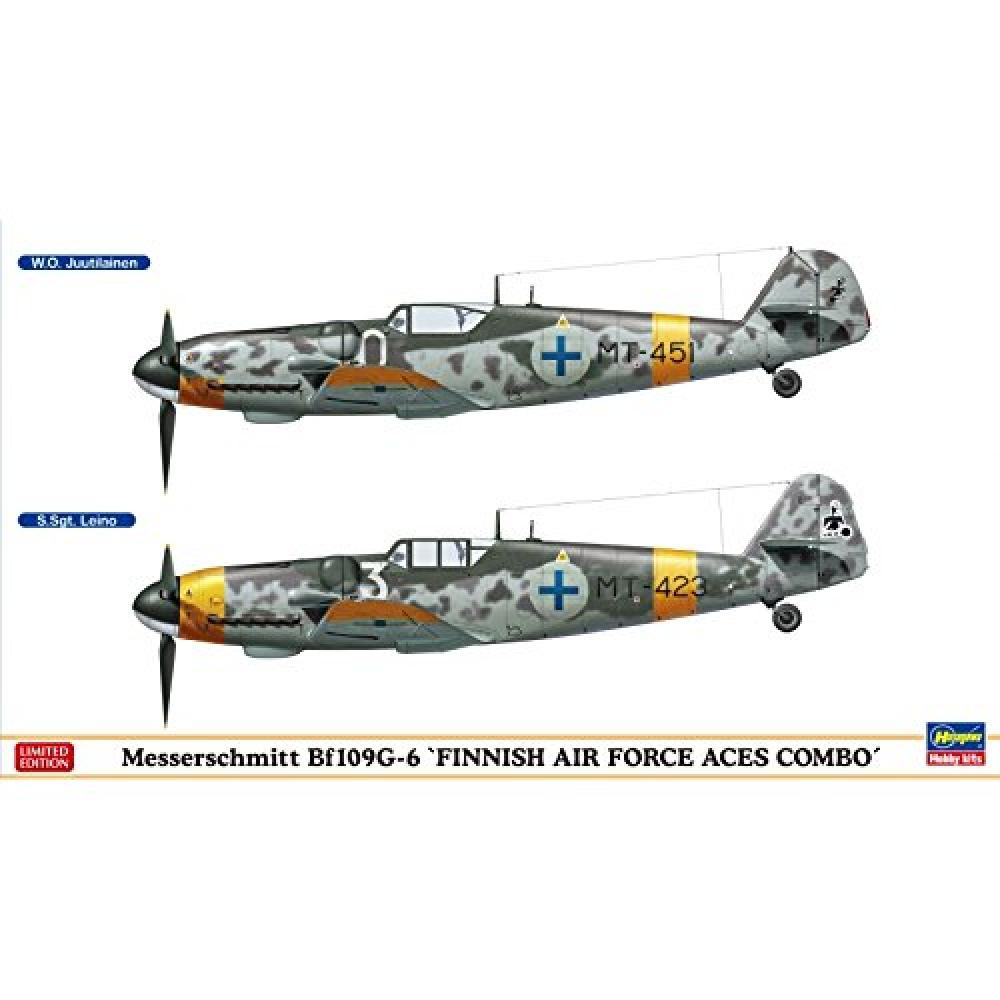 1/72 Finnish Air Force Messerschmitt Bf109G-6 Aces Combo Plastic Model 02259