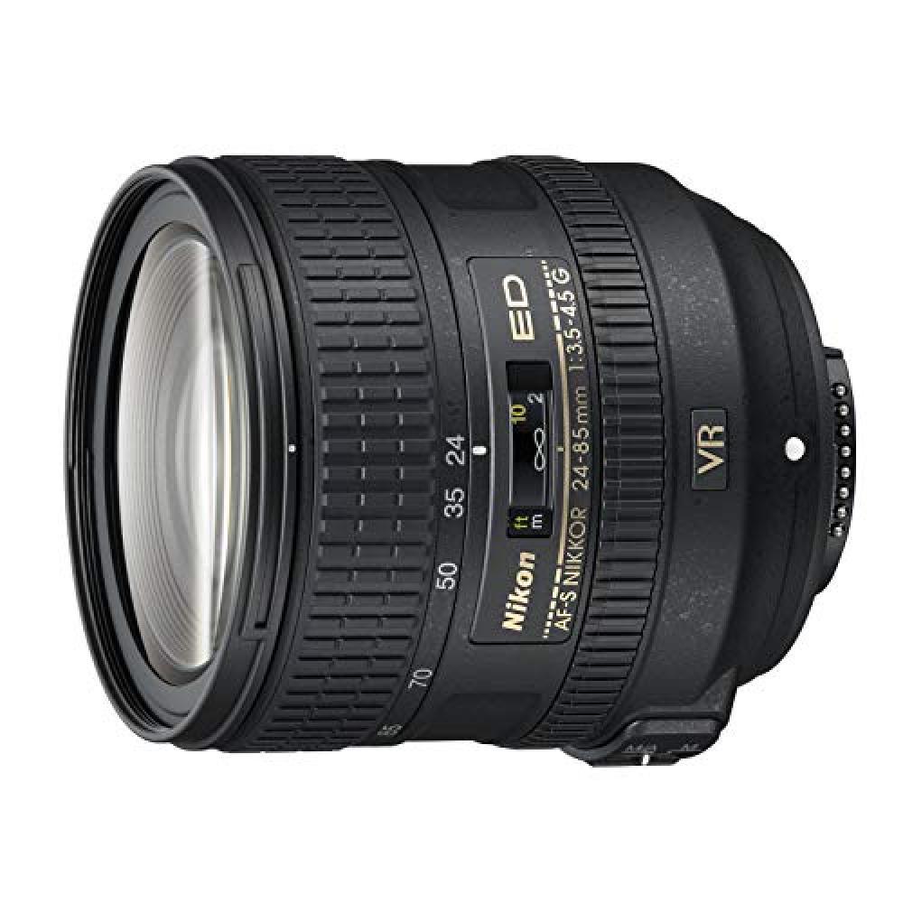Nikon standard zoom lens AF-S NIKKOR 24-85mm f/3.5-4.5G ED VR Full size support