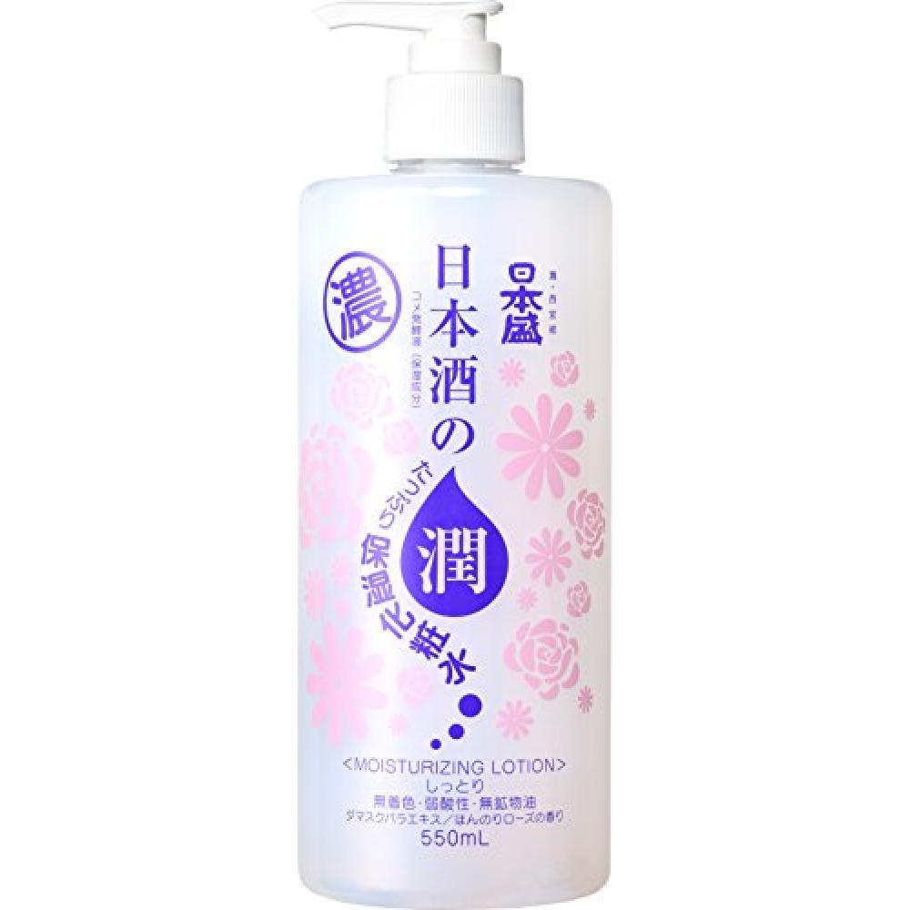 Nihonmori A lot of moisturizing lotion of sake Moisturizing 550ml Slightly rose scent (skin lotion Junmaishu high moisturizing)