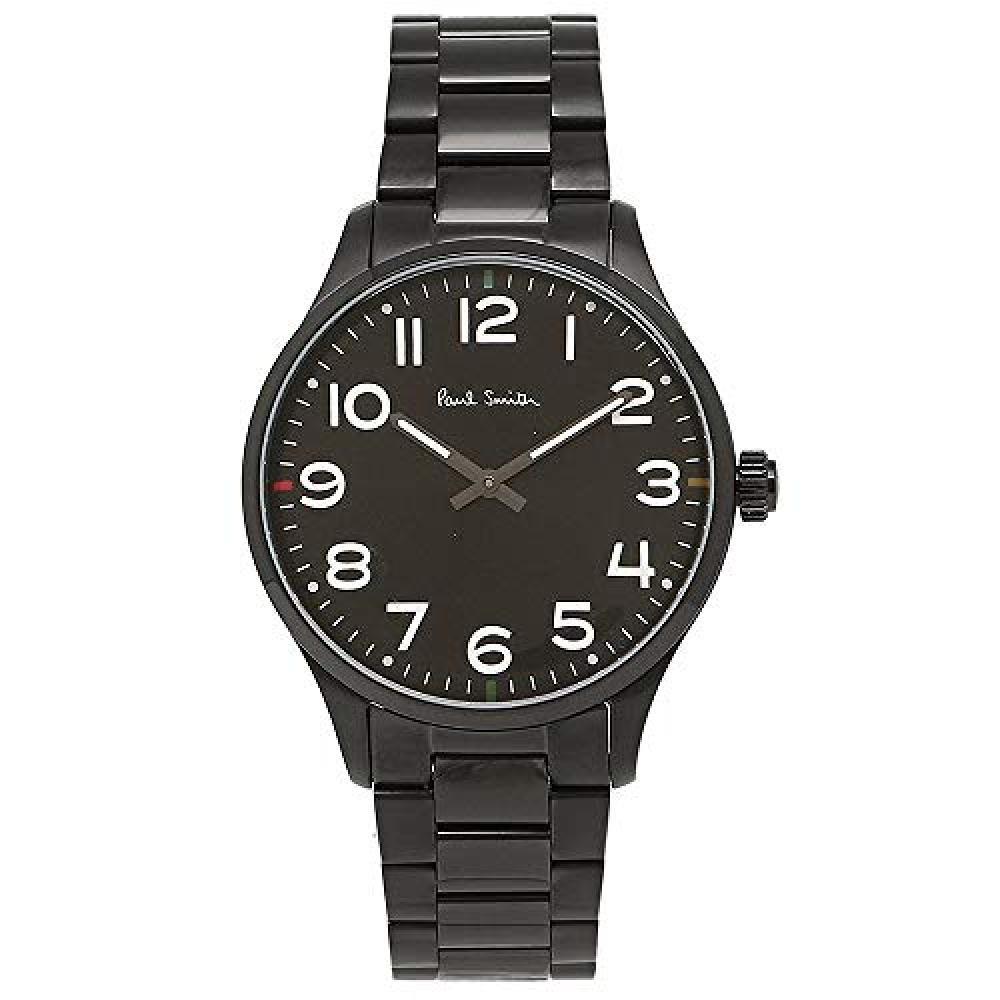 [Paul Smith] PAUL SMITH Men's Tempo Black Stainless Black Case Black Dial P10066 Watch