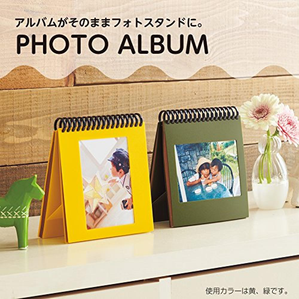 Lihit Lab Photo Album Stand Type For L Size Yellow A230-5