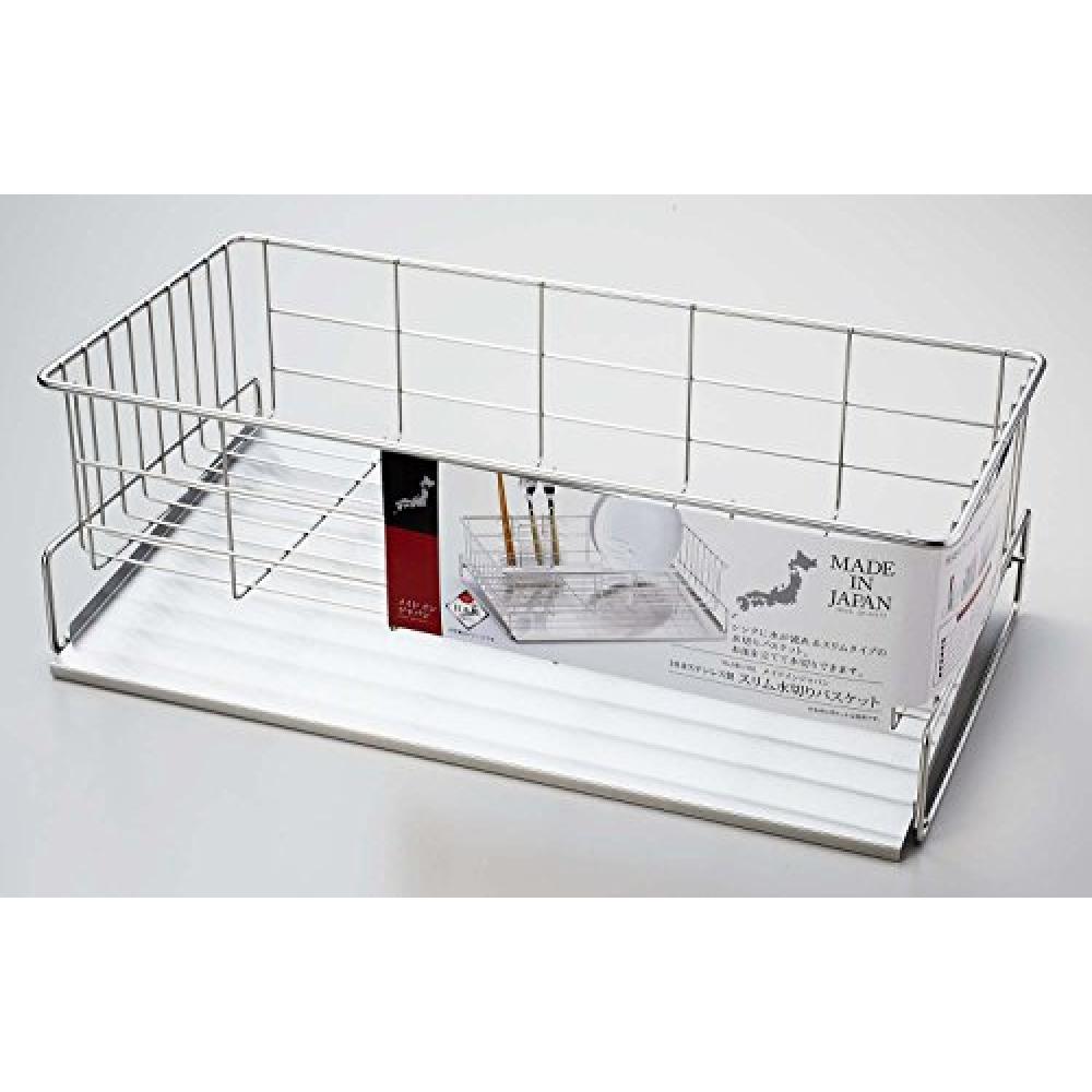 Made in Japan tableware drainer basket slim stainless steel made in Japan HB-1782