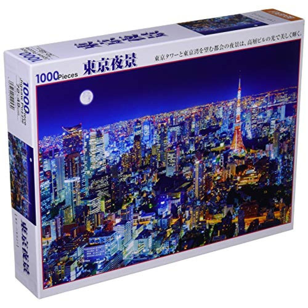 1000 piece jigsaw puzzle Tokyo night view (49 × 72cm)