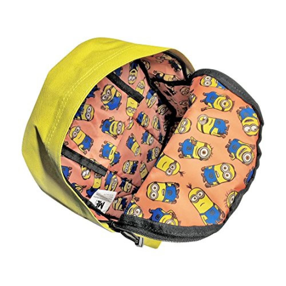 Minion polyester Kids backpack flyers yellow MNAP183