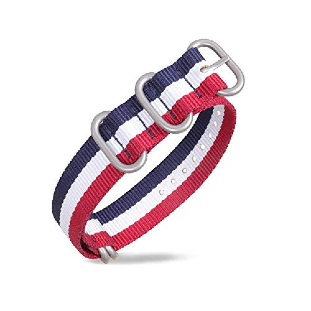 Zulu belt 22mm watch band pull-through cloth belt military nylon replacement band watch strap G10 replacement belt with replacement tool