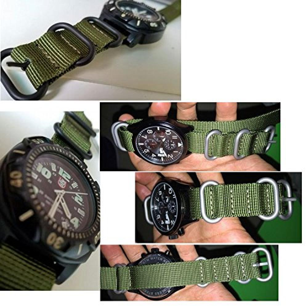 Zulu belt 22mm watch band pull-through cloth belt military nylon replacement band watch strap G10 replacement belt with replacement tool