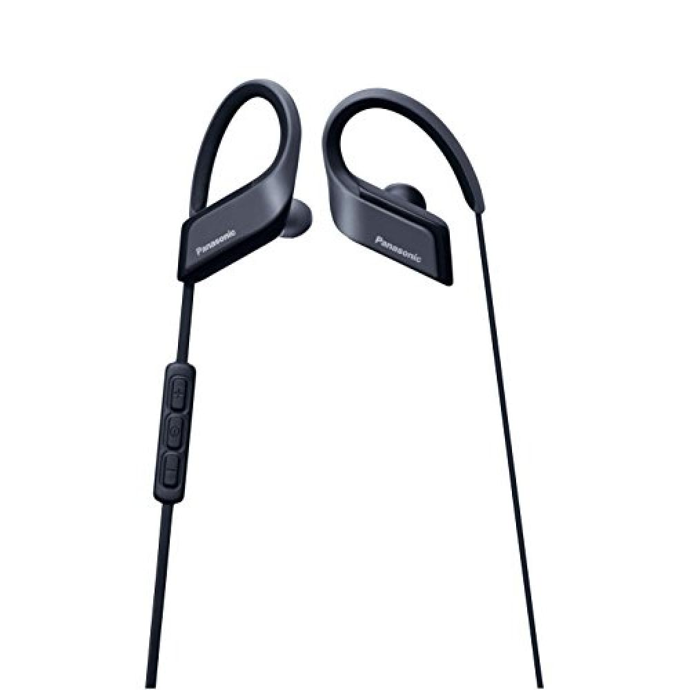 Black for Panasonic wireless earphone Bluetooth waterproof sport with a microphone remote control RP-BTS35-K