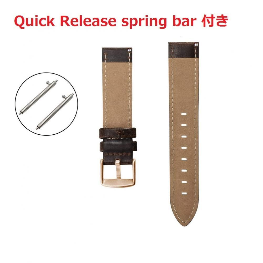 Quick Release Leather watch belt 18mm Genuine leather watch band Quick release DW series compatible leather replacement belt General-purpose smart watch belt