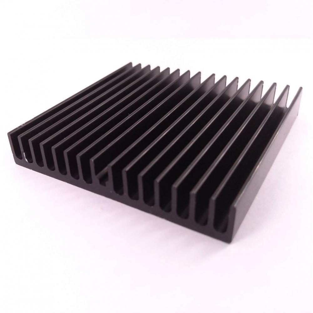 Easycargo heatsink 2 points 60mm 60x60x10mm Black anodized cooling heatsink (60mmx60mmx10mm)
