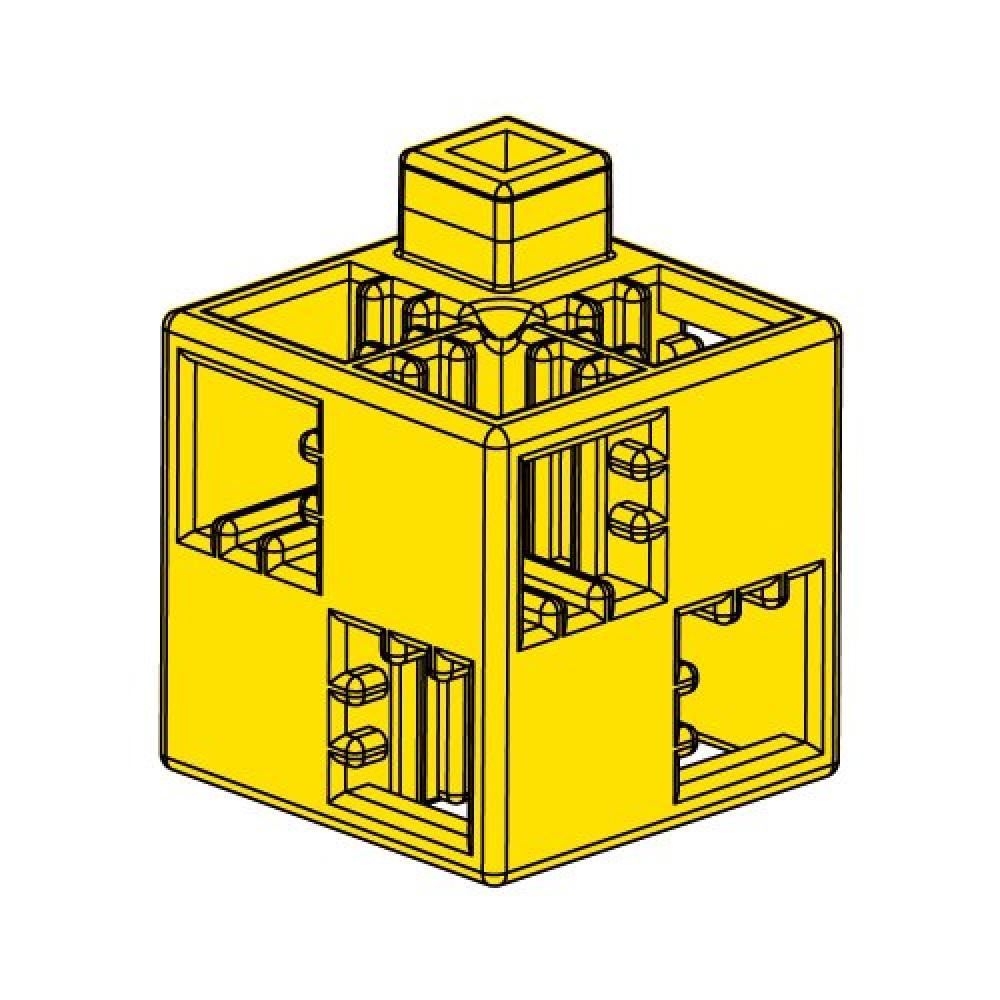 Artec Artec block block single item basic square yellow 24 pieces 077741