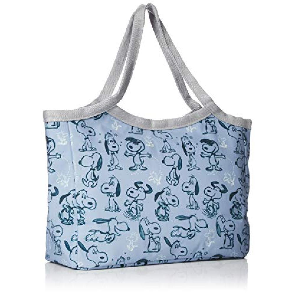 [Root Tote] Horizontal Tote Bag LT. Habitchel Eco Laminate PEANUTS SNOOPY2018Peanuts Worldwide LLC Habitchel Sketch