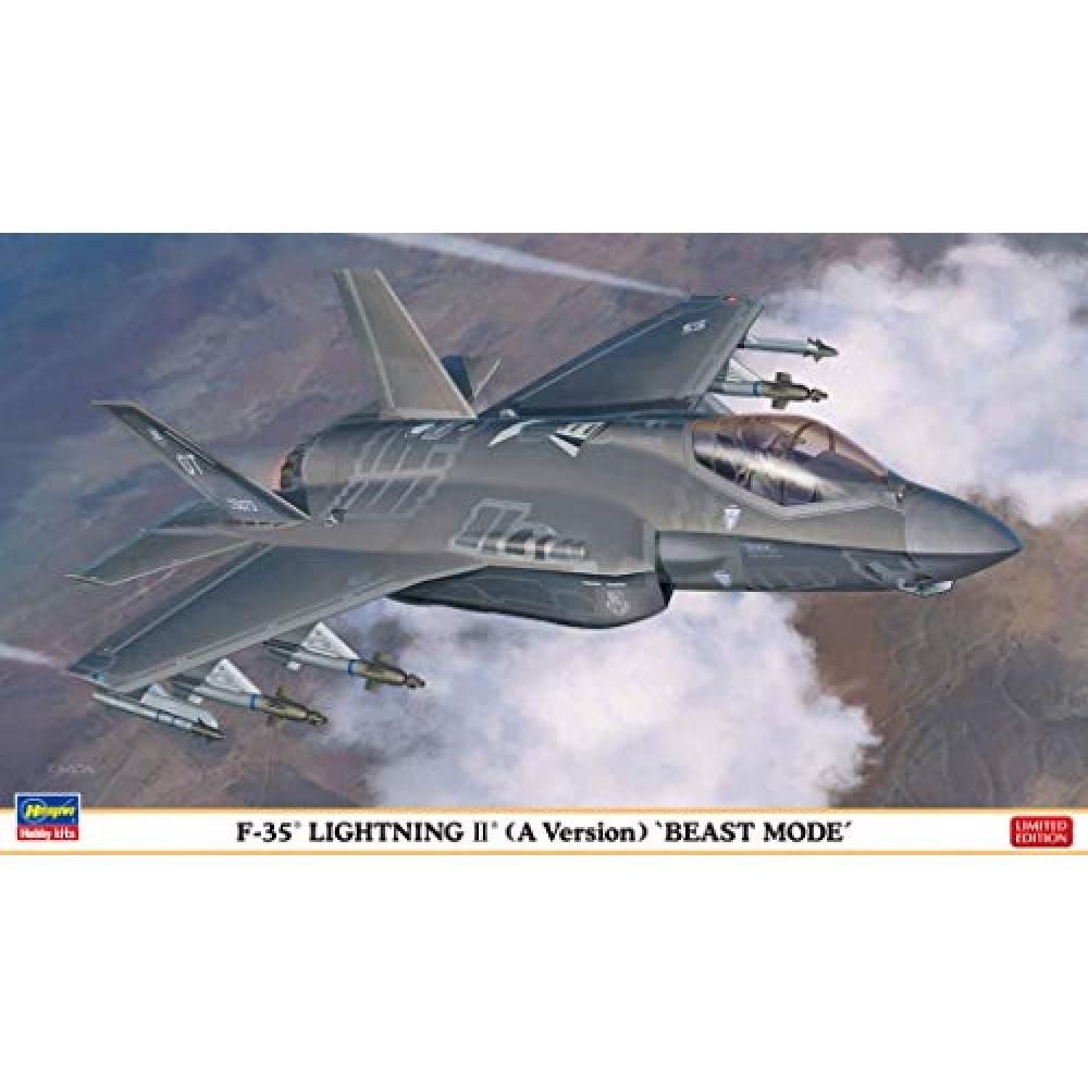 Hasegawa 1/72 the United States Air Force F-35 Lightning II A type Beast mode Model Car 02315