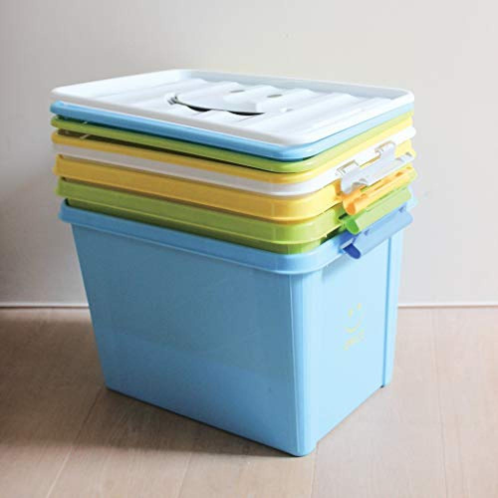 SPICE OF LIFE Storage Case Smile Box White L size 40×28×27.5cm Polypropylene with lid Stackable SFPT1530WH