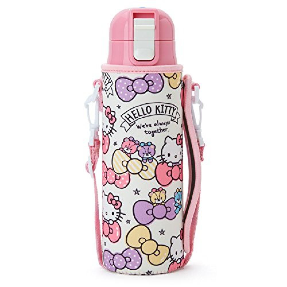 Stainless steel bottle with Hello Kitty cover