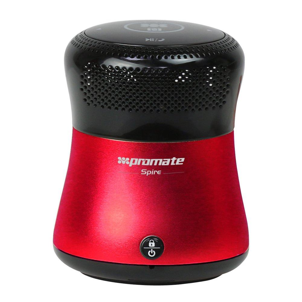 """Promate Promate """"Shake n Shuffle"""" Bluetooth/NFC speaker [DSP sound, beat indicator, MicroSD reader, touch control, built-in microphone] RED SpireRED"""