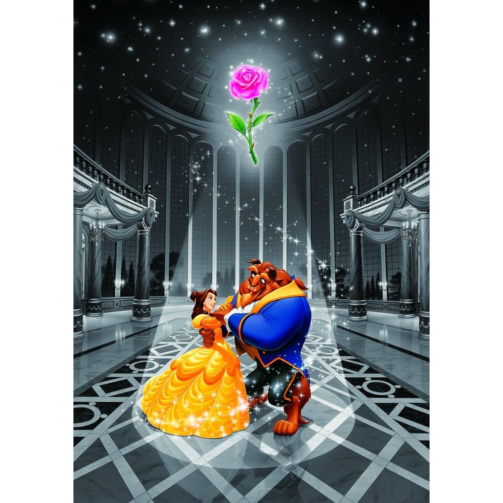 500 Piece Jigsaw Puzzle Beauty and the Beast Magic of Love Gutto Series [Frost Art] (25x36cm)