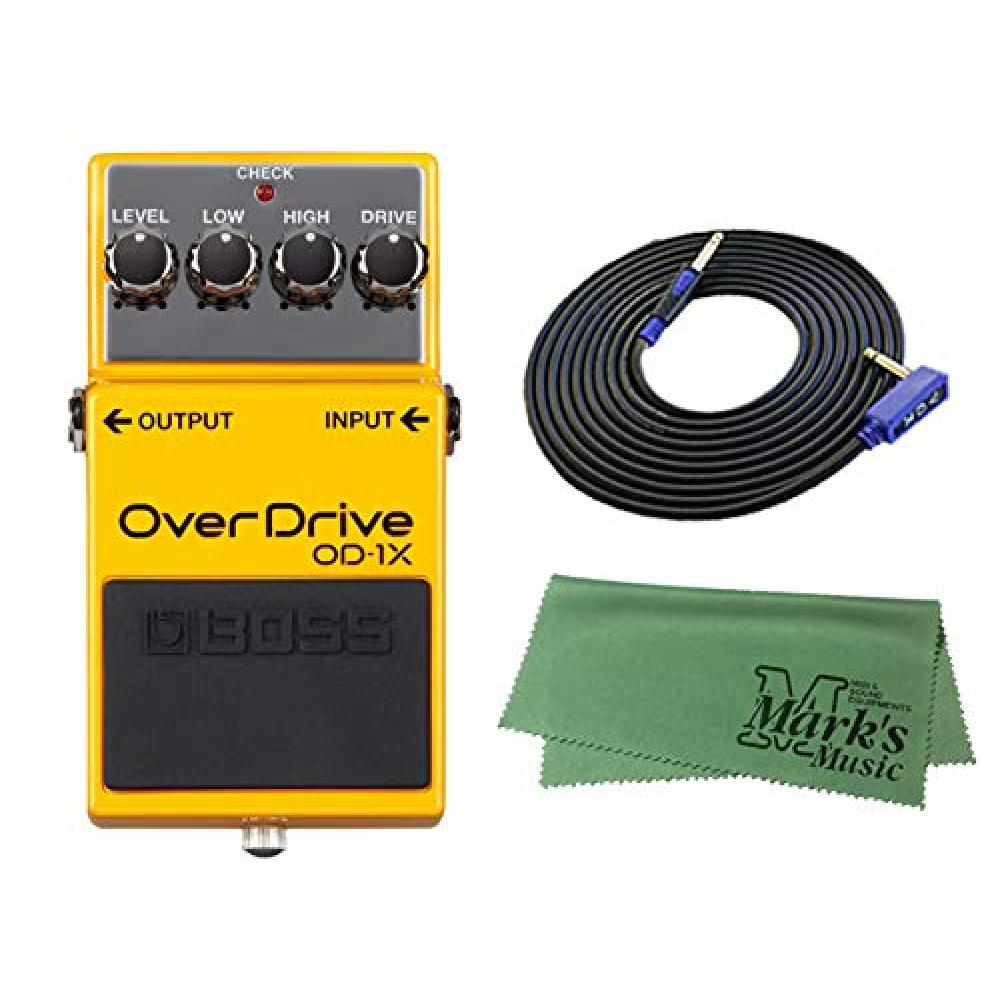 BOSS Compact Effects Overdrive OD-1X + 3m Guitar Cable VOX VGS-30+ Cross Set