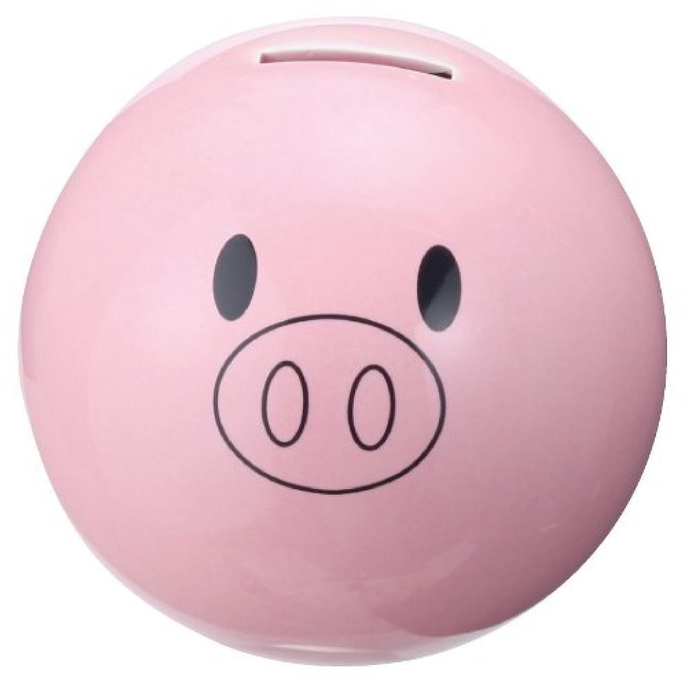"""San Art cute miscellaneous goods """"round accumulate 100,000 yen"""" pig piggy bank SAN1838"""