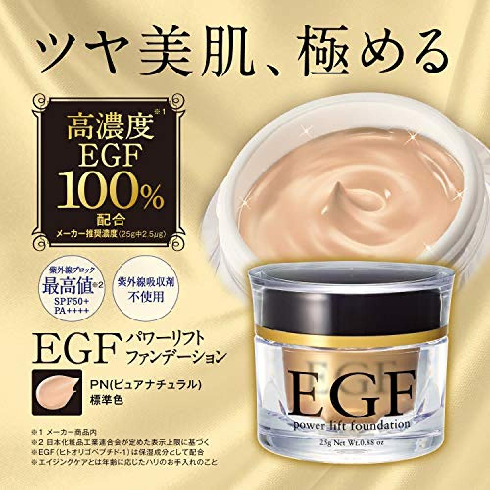 EGF Power Lift Foundation [25g / About 3 months] Cream Foundation (Pure Natural)