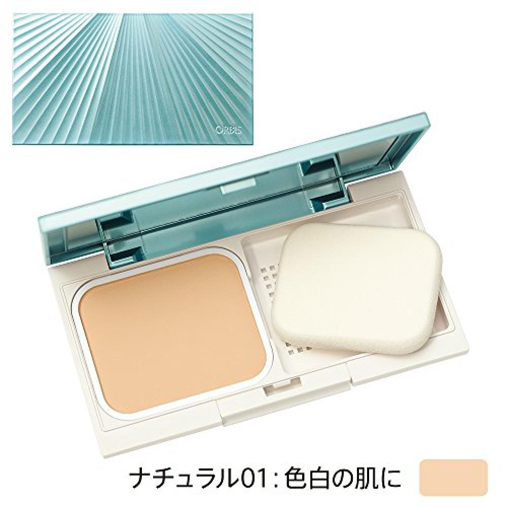 ORBIS Timeless Fit Foundation UV Refill & Case Set (with Dedicated Puff) Natural 01 SPF30/PA+++ (UV Cut Foundation)