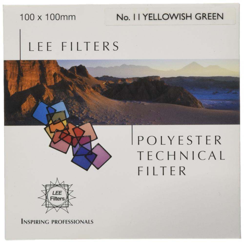 LEE angle type polyester lens filter SP-28 Green No.11 100mm × 100mm black-and-white photographic 209733