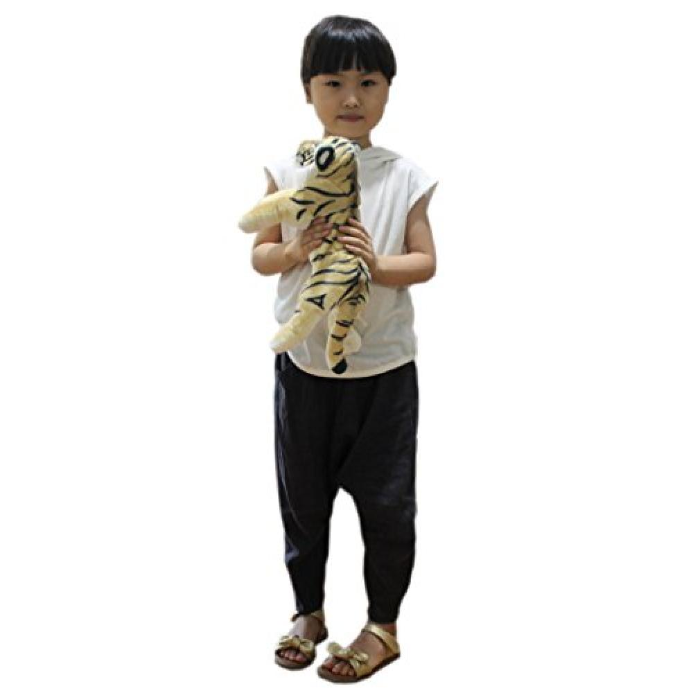 TAGLN toy animal stuffed child's pillow birthday gift (40 CM, Brown Tiger)