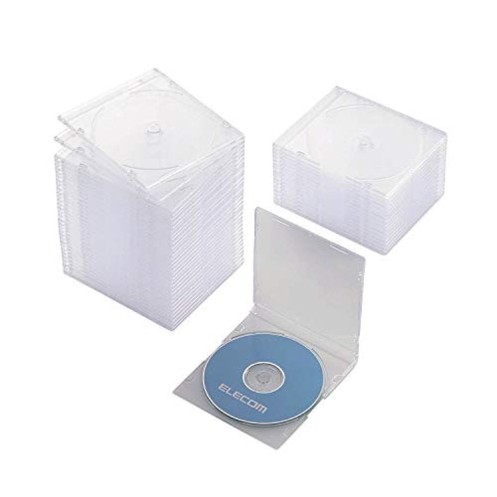 ELECOM CD/DVD slim plastic case/single storage/50 packs/clear