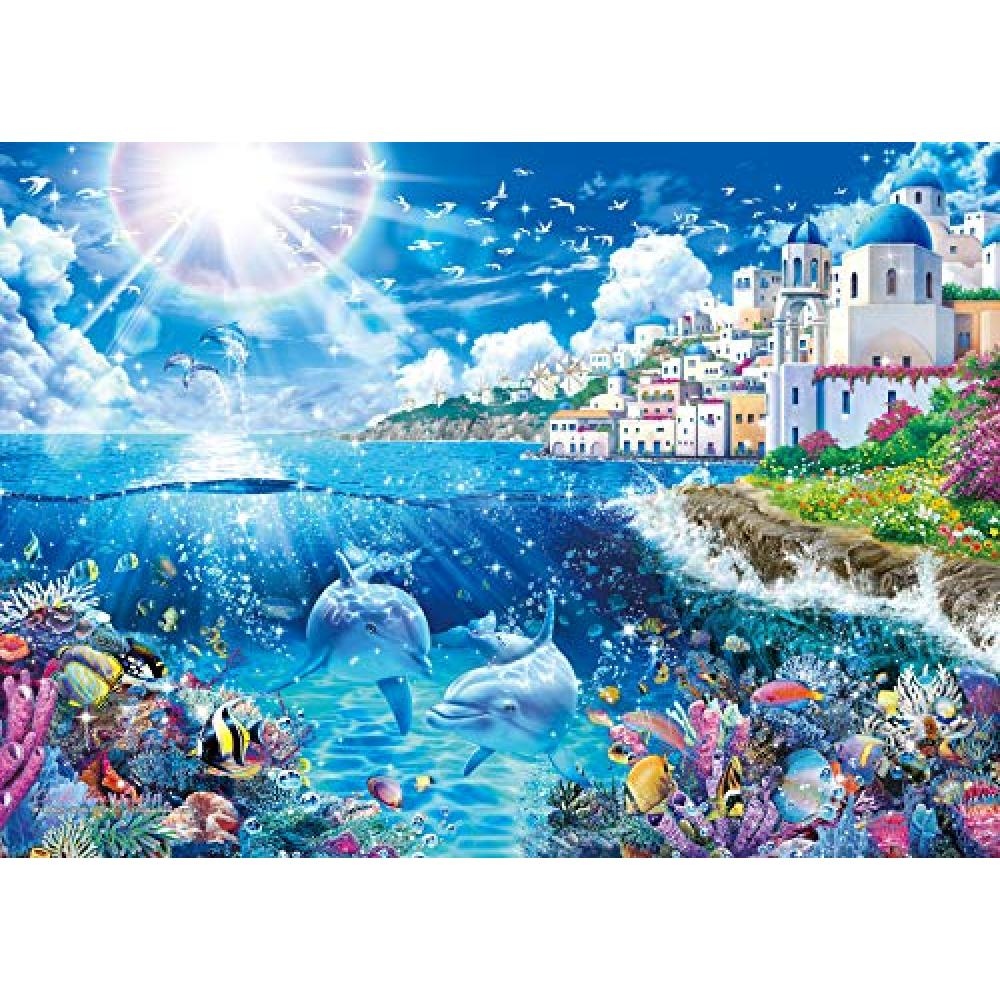 500-piece jigsaw puzzle Lassen Mykonos - World Travel ~ [glowing puzzle] (38x53cm)
