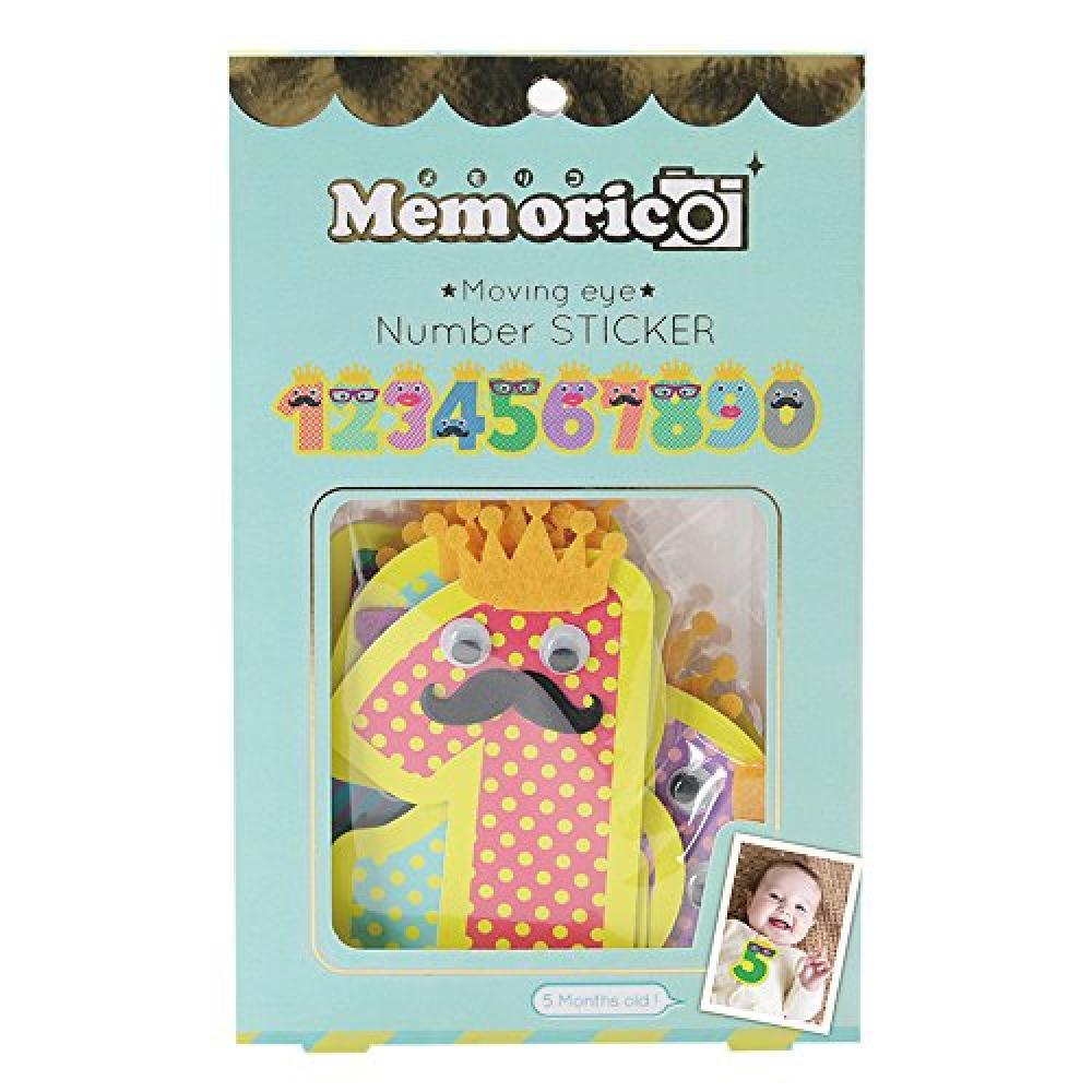 Nor Corporation Memoriko memorico moving eye number sticker 10pcs set